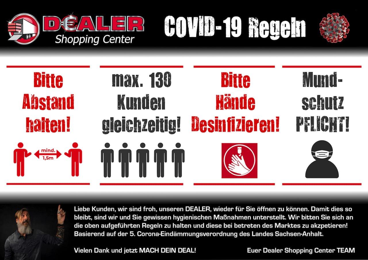 Corona Regeln Grafik Dealer