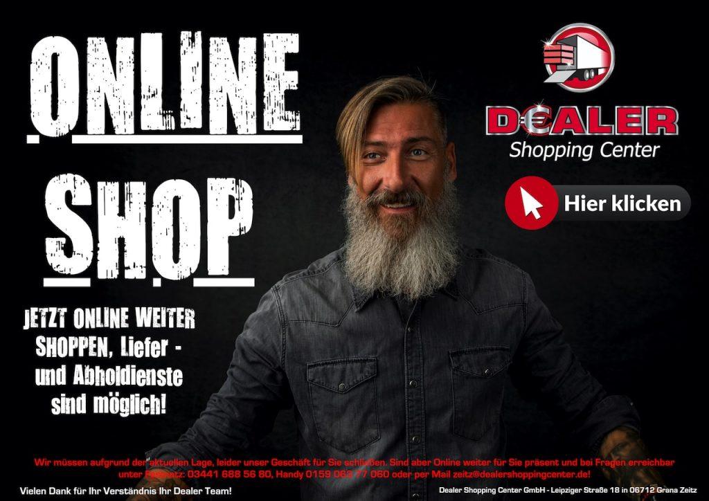Dealer Online weiterhin geöffnet Homepage