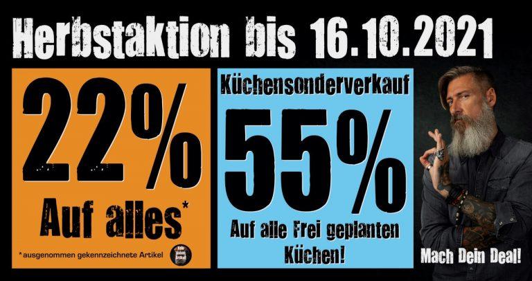 Homepage Slider Dealer Herbstaktion 22% & 55%